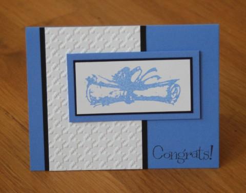 Diploma blue congrats