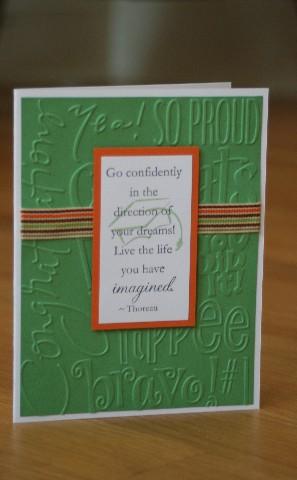 Grad quote green