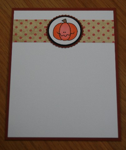 Notecard pumpkin