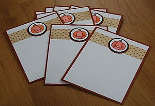 Notecard pumpkin set