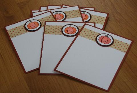 Notecard pumpkin set