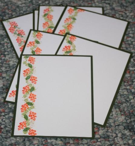 Notecard leaves set