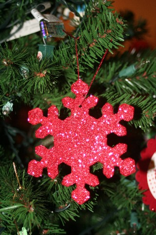 Snowflake red