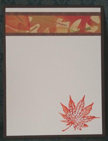 Notecard leaf