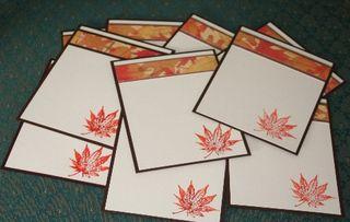 Notecard leaf set