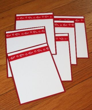 Notecard candy canes set