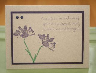 Purple flowers loss