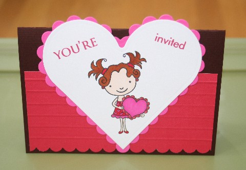 Lily valentine invite