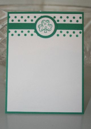 Notecard shamrock