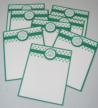 Notecard shamrock set