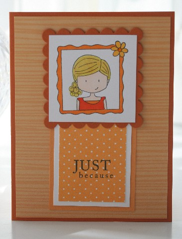 Frame girl orange