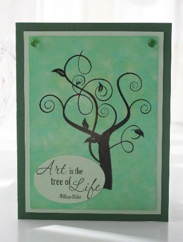 Art tree green
