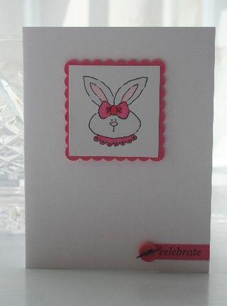 CAS bunny celebrate