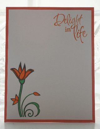 Notecard verve orange