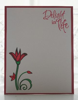 Notecard verve rose red