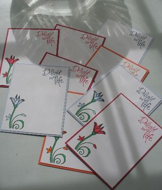 Notecard verve set