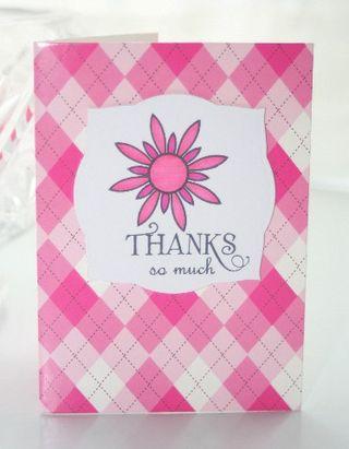 Thanks pink flower