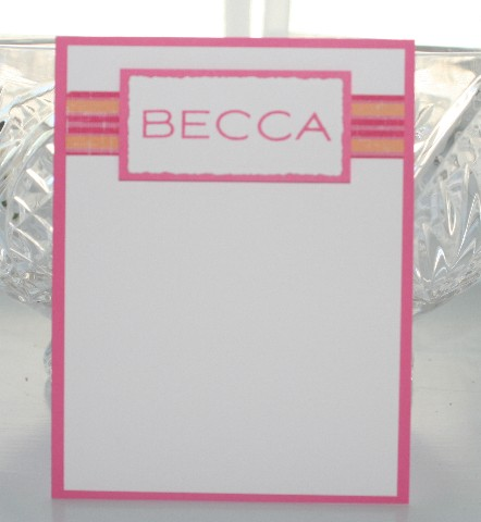 Notecard name
