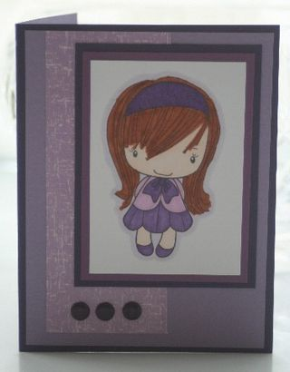 Purple headband girl