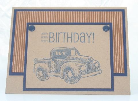 Birthday blue truck
