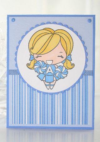 Blue white cheer
