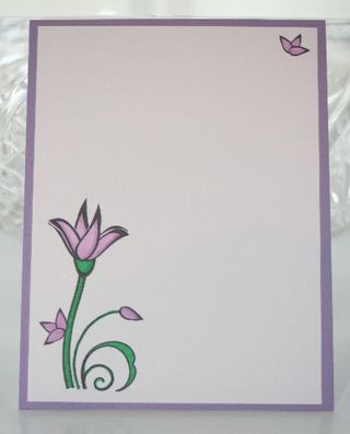 Notecard purple flower