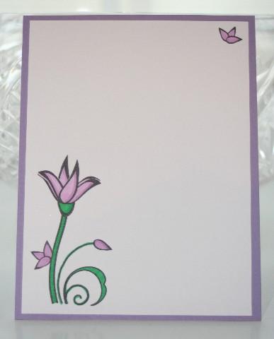 Notecard purple flower