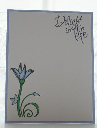 Notecard verve blue