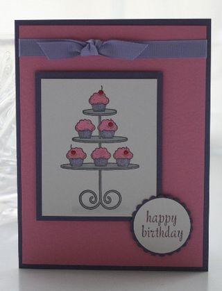 Cupcake tower pink