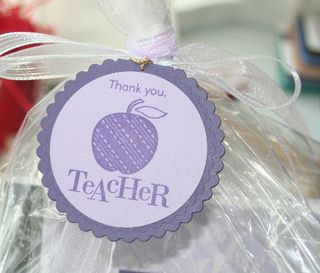 Teacher tag purple