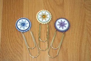 Clip bookmarks flowers 1