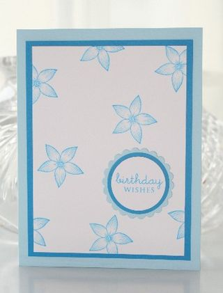 Blue flower birthday