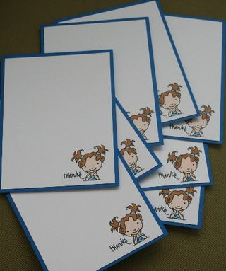 Notecard girl thanks set