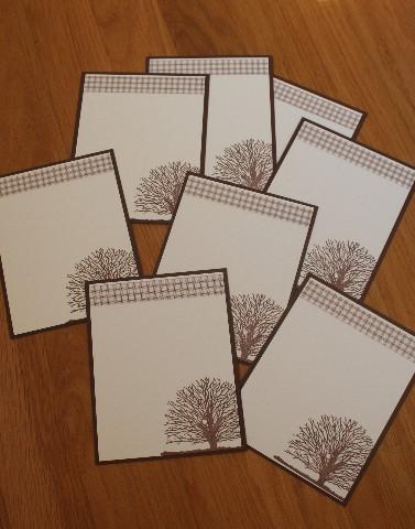 Notecard tree set