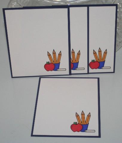 Notecard pencils apple set