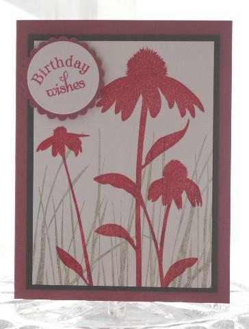 Birthday red flowers
