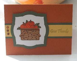 Pumpkin basket thanks