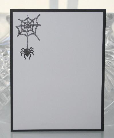 Notecard spider