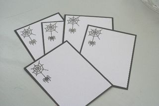 Notecard spider set