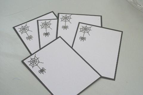 Notecard spider set