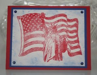American flag statue