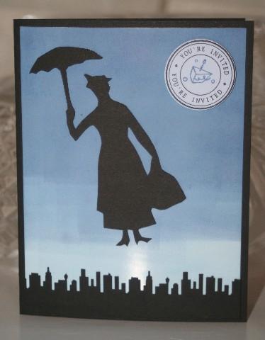 Mary poppins invite