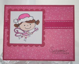 Candy cane fairy pink