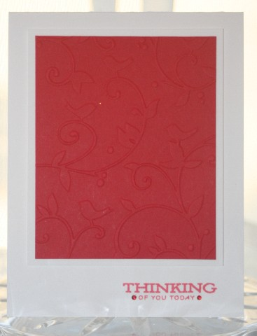 Thinking CB red
