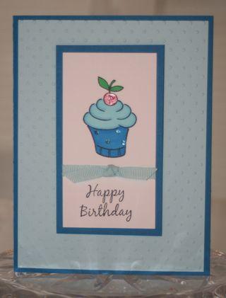 Bday cupcake blue