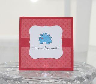Valentines mini dino
