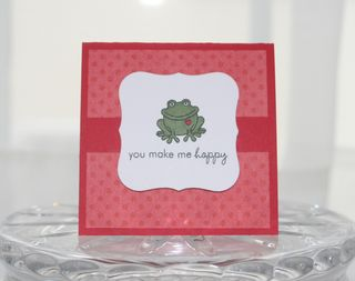 Valentines mini frog