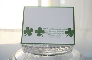 Irish blessing shamrocks