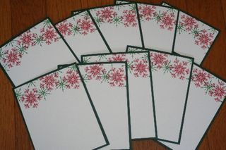 Notecard colored snow set