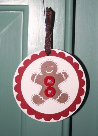 Ornie gingerbread red 1